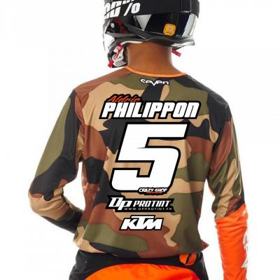Flocage maillot MOTOCROSS (dos)