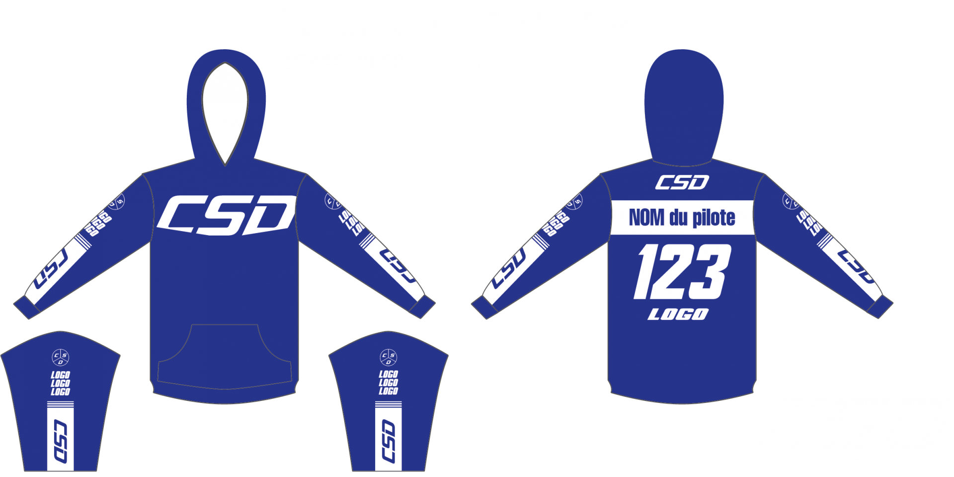 Sweat csd bleu blanc