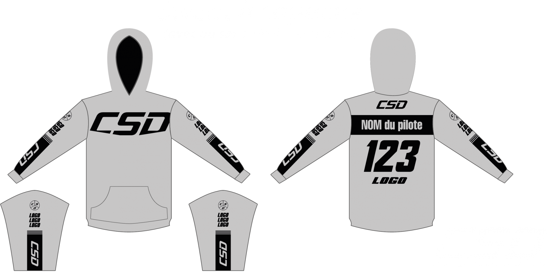 Sweat csd gris noir