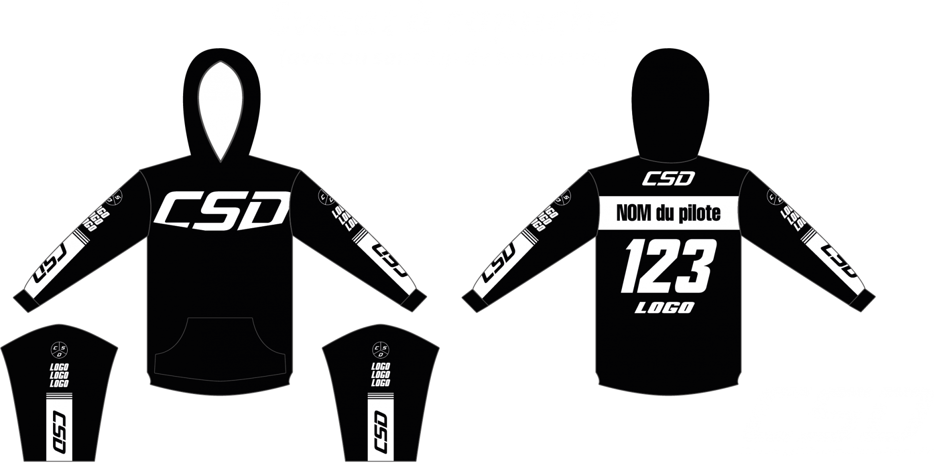 Sweat csd noir blanc