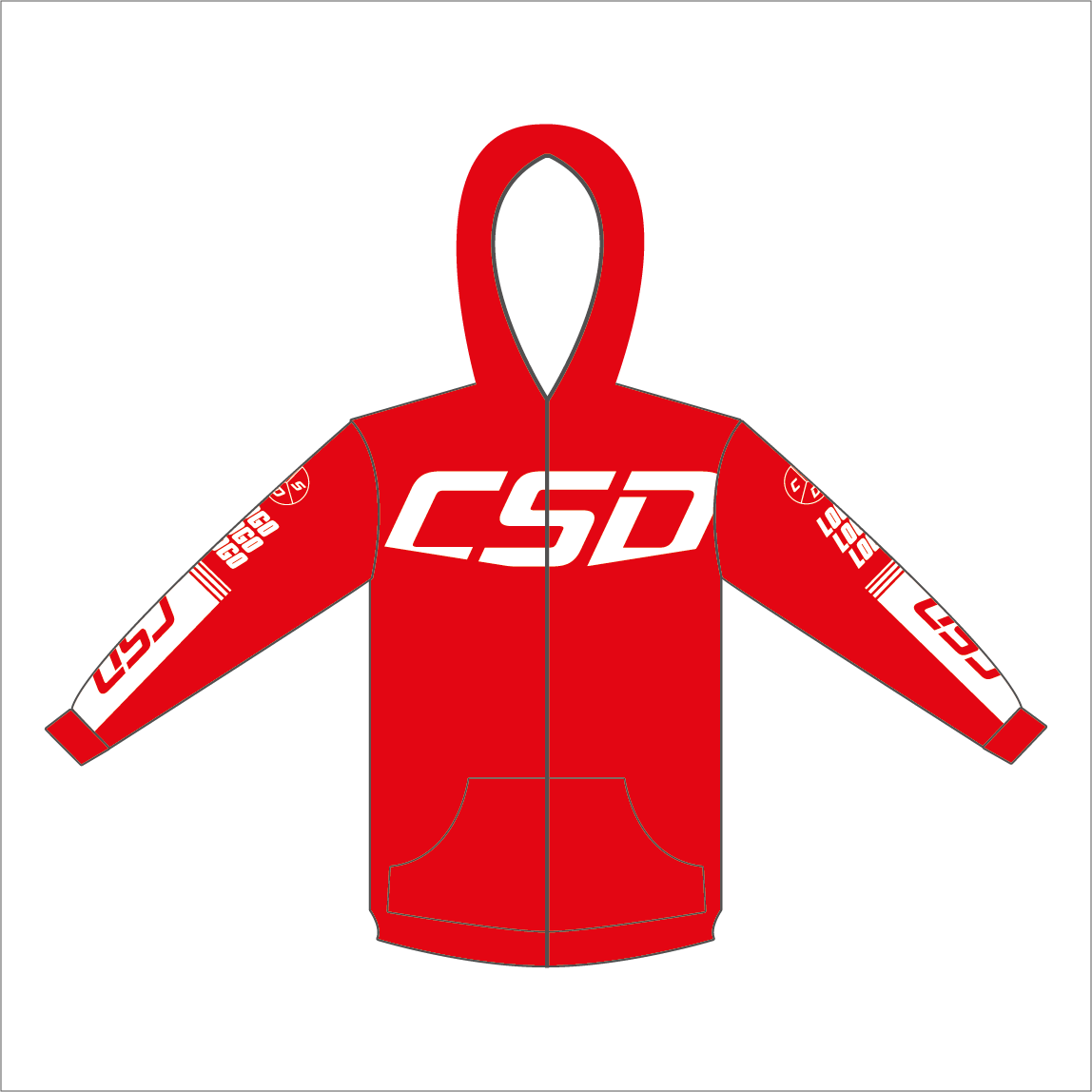 Sweat csd rouge zip miniature